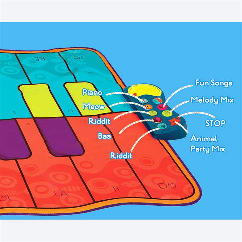 Play Keyboard Mat 54 Inches Musical Keyboard Playmat 16 Keys Battery Operated Foldable Floor Keyboard Piano Dancing Activity Mat With Adjustable Vol Step And Play Instrument Toys For Toddlers Kids Dif by GAOCAN-gq (Image #4)