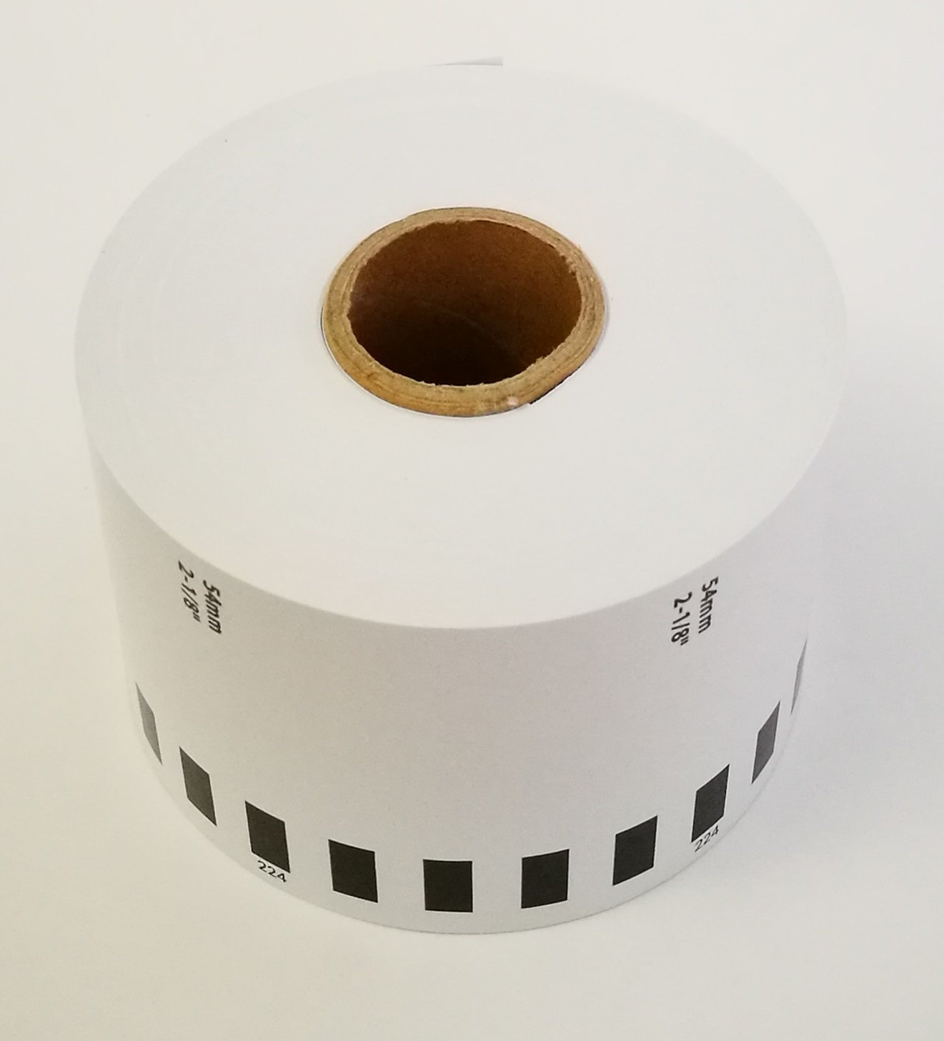 Brother-Compatible DKN5224 DK-N5224 Non-Adhesive Continuous Paper Labels (1 roll + 1 reusable cartridge)