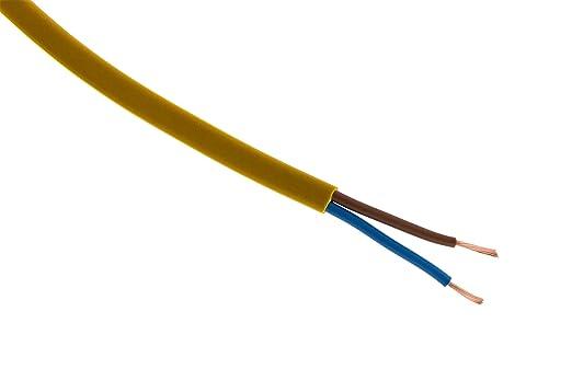 Stromkabel elektrische ho3vvh2-f 2 x 0,75 Gold – 5 m: Amazon.de ...