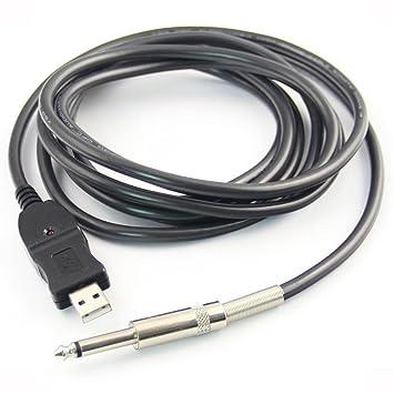 PIXNOR Guitarra Cable de enlace de grabación USB a PC Adaptador 3 Meter: Amazon.es: Electrónica