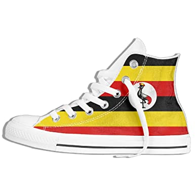 2eb1d3d0eaa2 Amazon.com  Flag Of Uganda Unisex High Top Classic Casual Canvas Fashion  Shoes Sneakers For Women   Men  Clothing