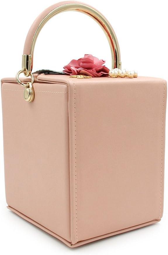 Borsa per Festa di Nozze Borsetta da Donna con Borsetta a Fiori e Borsa da Sera (Color : Blue) Pink
