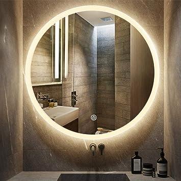 Amazoncom Makeup Mirror Round Frameless Wall Mirrortouch