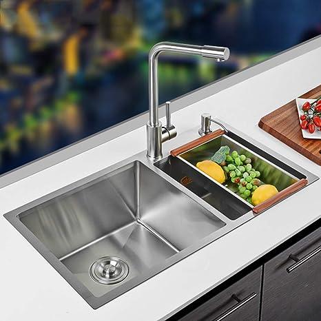 Cucina Lavello Accessori, in acciaio inox in vetro superiore cucina lavello  Drainboard cucina lavello lavandino