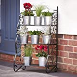 Plant Theatre - Organises Pot Plants and Herbs in a Stunning Tiered Display. Metal 'Traditional' Design in Black. Great Gift Idea