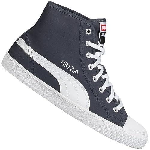 Puma Puma Ibiza Mid NM #1 Unisex - Pantuflas de ca?a alta de lona unisex, color negro, talla 45