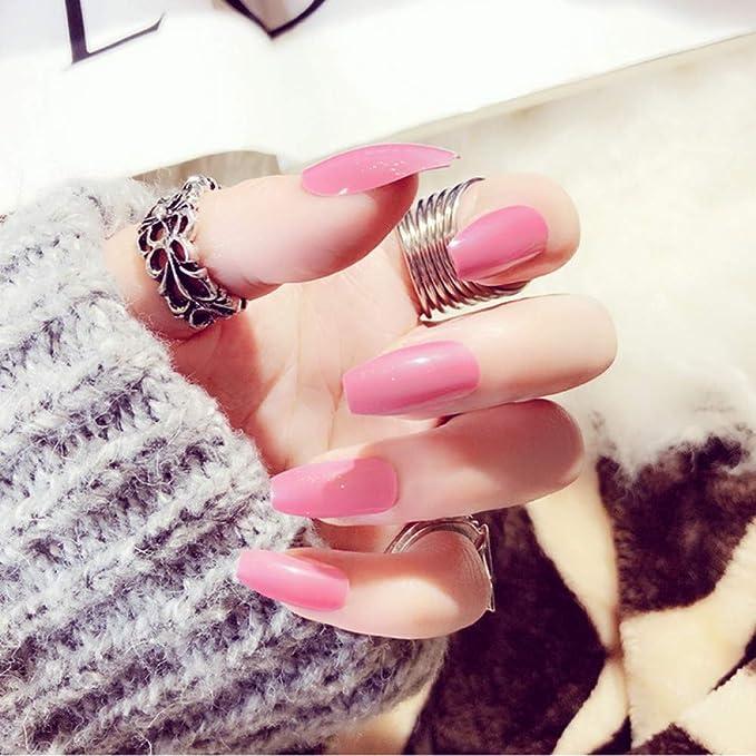 QULIN Uñas postizas Diseño de arte de uñas Artificial Uñas ...