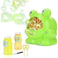 JBSON Máquina de Burbujas, Rana de Burbujas Automática 500 Burbujas por Minuto para niños,