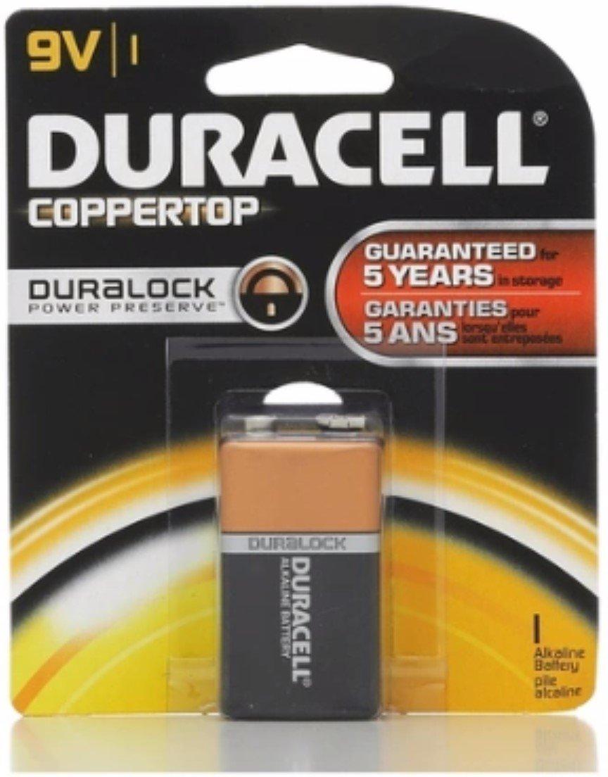 Duracell Coppertop 9V Alkaline Battery 1 Each (Pack of 10)