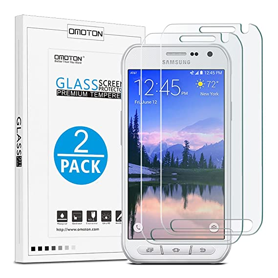 84086a54b01 OMOTON [2 Pack Galaxy S6 Active Screen Protector (Not Fit for Galaxy S6)
