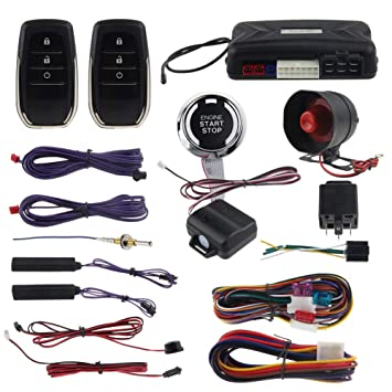 Car SUV Security Alarm Vibration Alarm System Engine Ignition Start Push Button
