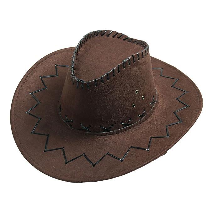 Geshiglobal Cappello da cowboy - Moda - Uomo Coffee Taglia unica ... b937054e50bd