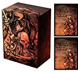 Legion Witch's Cauldron Deck Box + 100 Double Matte Sleeves (fits Magic/MTG, Pokemon Cards)