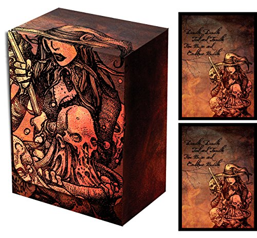 Legion Witch's Cauldron Deck Box + 100 Double Matte Sleeves (fits Magic/MTG, Pokemon Cards) by Legion
