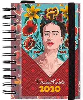 Agenda 2020 semana vista Premium Frida Kahlo, 17 meses ...