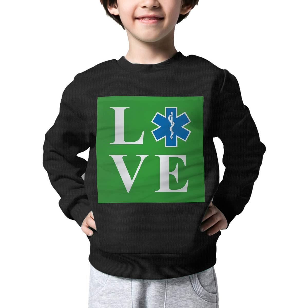 Childrens Love EMT Sweater Baby Girls Printed Sweater