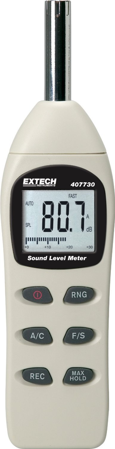 Extech 407730-NIST Digital Sound Level Meter 40-130dB with NIST