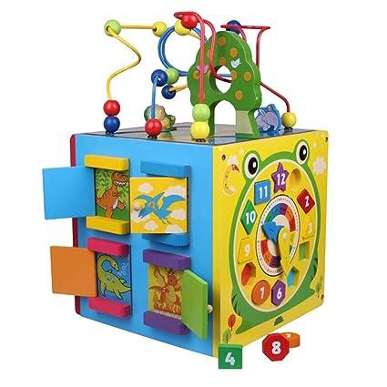 Amazoncom Xyanzi Kids Toys Large Wooden Bead Maze First Toddlers
