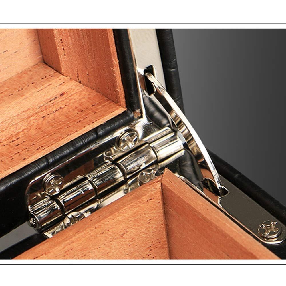 HYZXJHE Cigarette Case, Cedar Wood Portable Leather Cigar Box Cigar Humidifier Box by HYZXJHE (Image #5)