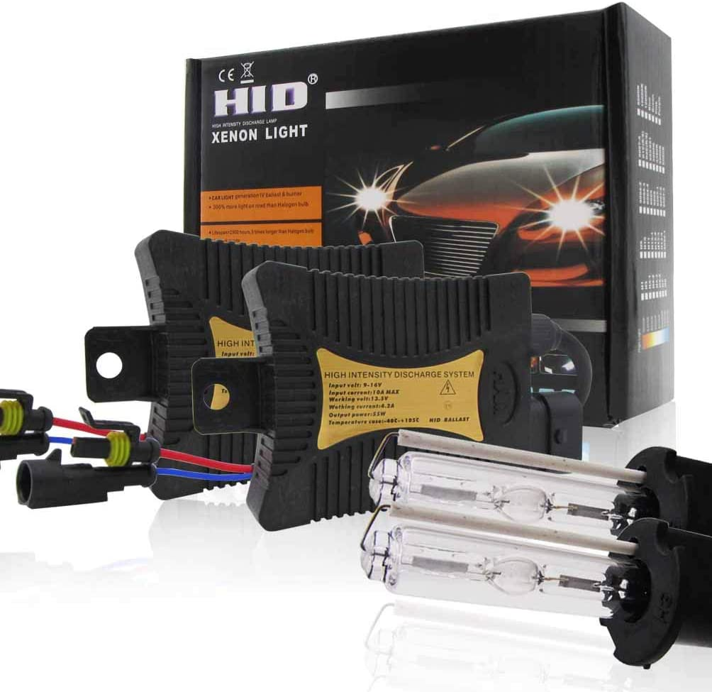 55w HID Xenon Conversion KitAll Bulb Sizes And Colors With Digital BallastsH1//H3//H4//H7//H11//9005//9006//880//881 Car LED Lights Style : H8//9//11, Wattage : 3000K