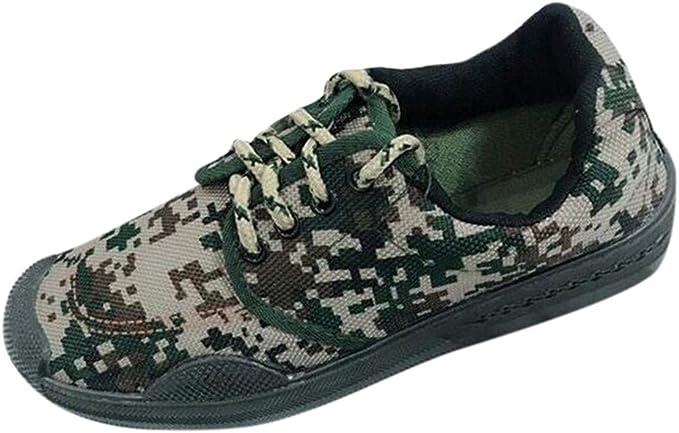 Darringls Zapatos de Seguro Laboral, Zapatos de Camuflaje de Lona ...