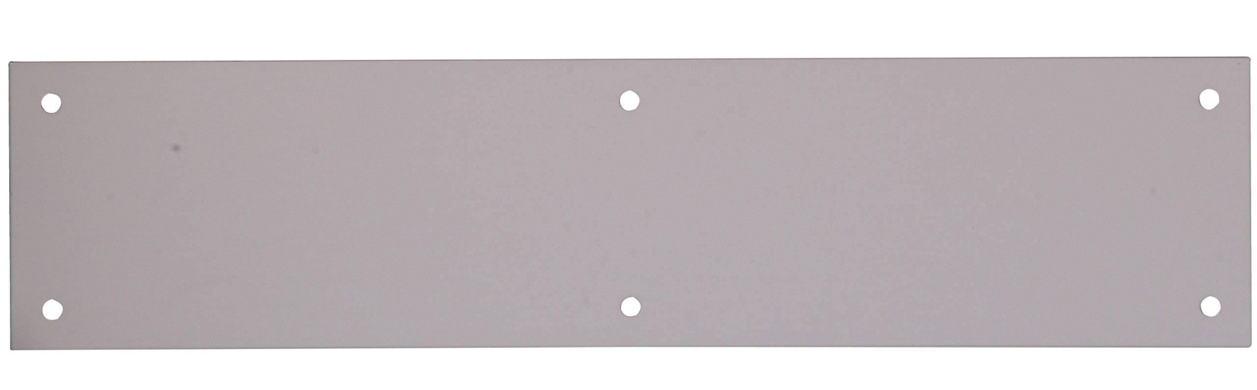 The Hillman Group 852734 3-1/2 ''x 15'' Push Plate - Aluminum - Aluminum Finish 1-Pack