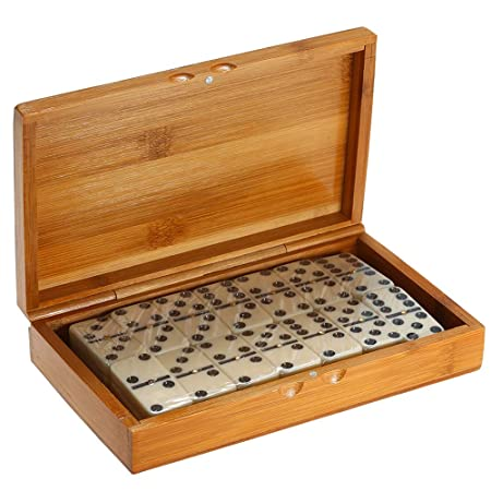 Guizen 28 Pieza Double-Six Cuadros de Domino Juego de Mesa número ...
