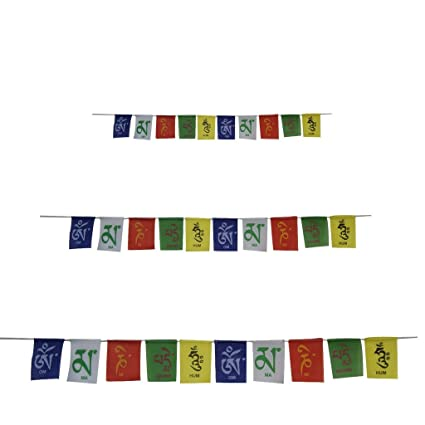 Divya Mantra Combo of Tibetian Buddhist Prayer Flags for Home, Car and for  Motorbike
