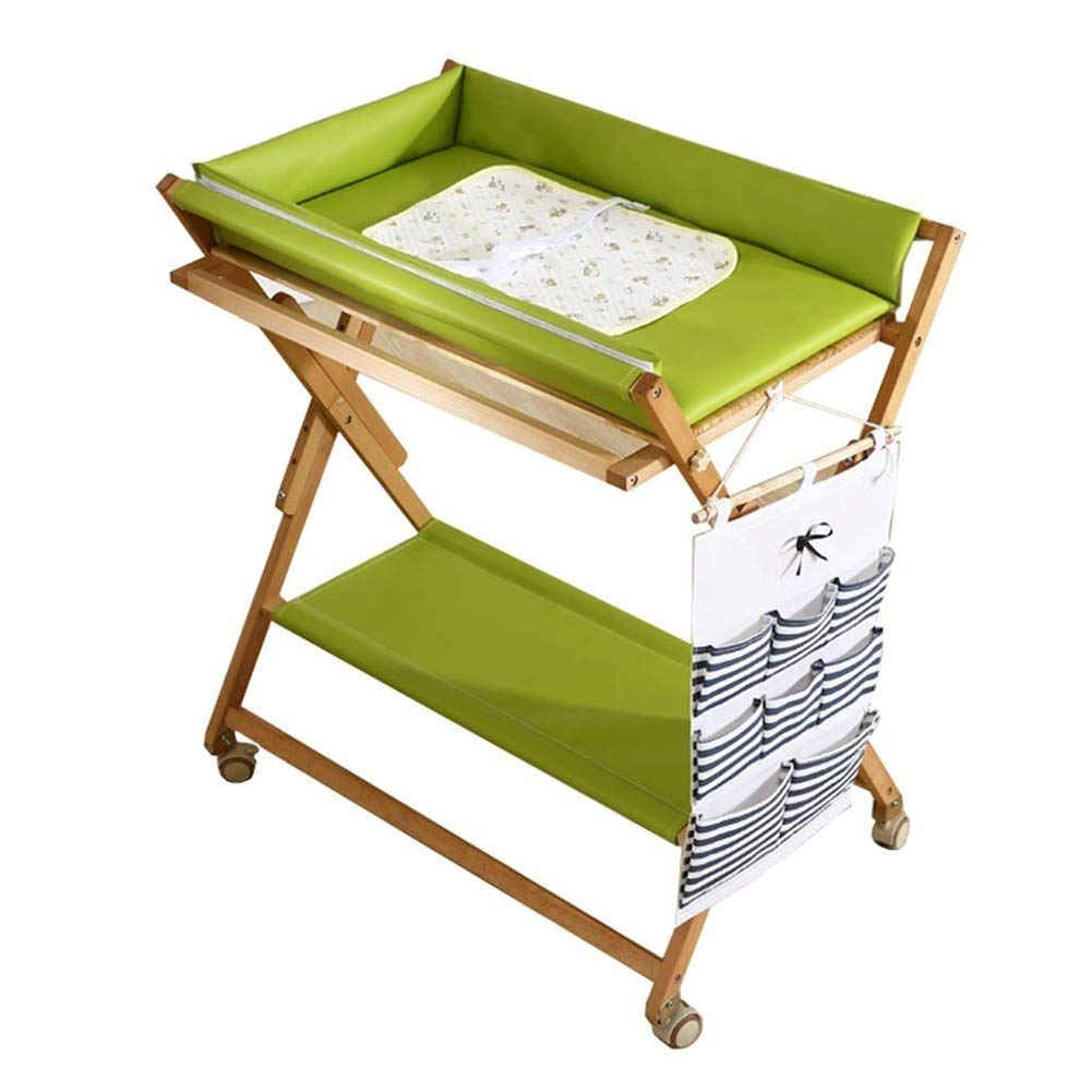 Solid Wood Changing Table, Baby Diaper Table, Multi-Function Baby Touch Table Artifact Bath Care Table Storage Rack Towel Rack
