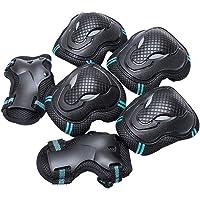 BLEVET 6PCS Protectores para Skate Patinaje Proteccion Protector