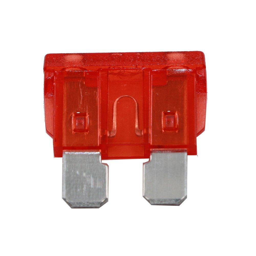 fusibile Dimensioni: 19 x 5 x 18,5 millimetri TM 100 pc // pacchetto moto Automotive casa attrezzature Lama Fuse Kit 2A 3A 5A 7,5A 10A 15A 20A 25A 30A 35A T Tocas