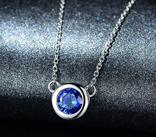Solid 18k white gold Pendant,solitaire pendant for necklace,0.56ct Oval Natural Blue Sapphire,Pave set
