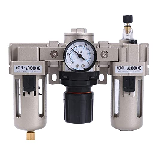 AF3000-03 G3//8/'/' Compressed Air Compressor In Line Moisture Water Filter Trap