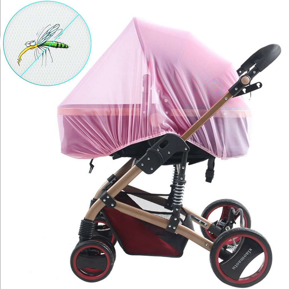 Baby Mosquito Net for Strollers, Car Seats, Bassinet, Car Seats, Bassinets, Cribs & Cradles, High Density and Soft Durable Insect Shield Netting - Pink WATTA