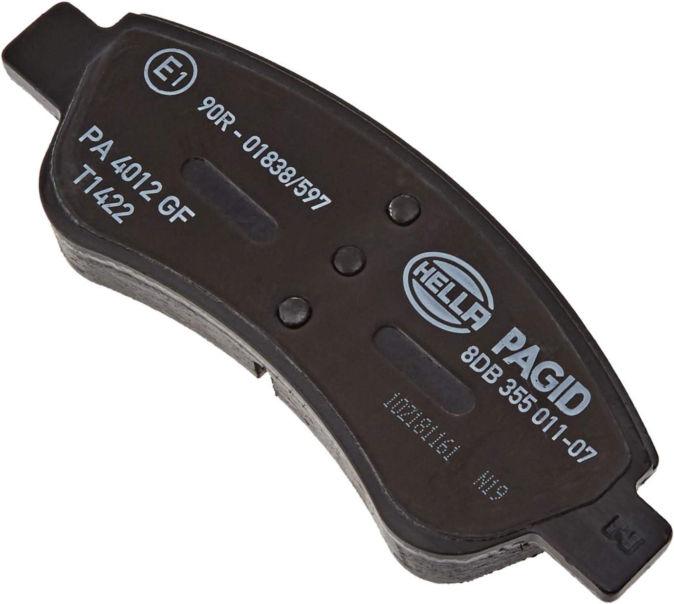 Freno a disco Assale anteriore HELLA PAGID 8DB 355 011-071 Kit pastiglie freno
