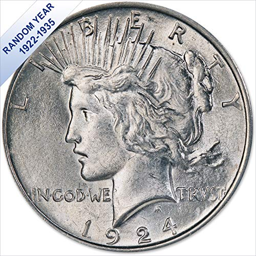 (1922-1935) Peace Silver Dollar (AU) - (with Air-Tite Holder) $1 About - Dollar Peace Silver 1964