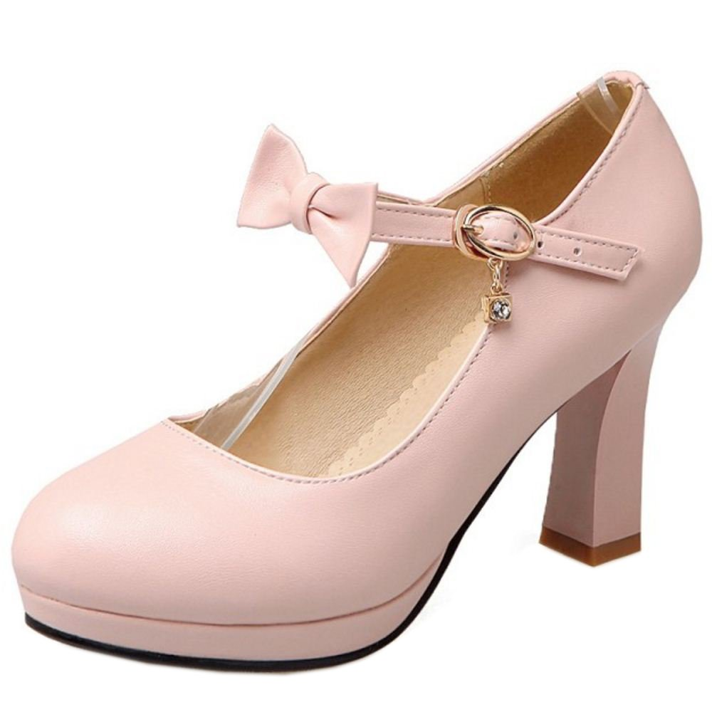 Zanpa Damen Heel Pumps Bow40.5 EU (sole length 26 CM)|Pink