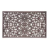 Decorative Rubber Door Mat - Antique Copper Scroll - 18'' x 30''
