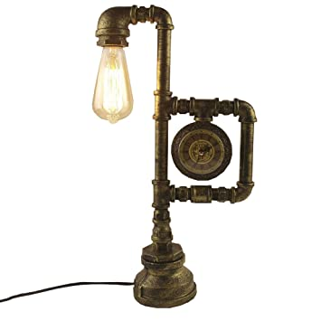 Table lamp Health UK Loft Industry Antiguo Bronce Lámpara de ...