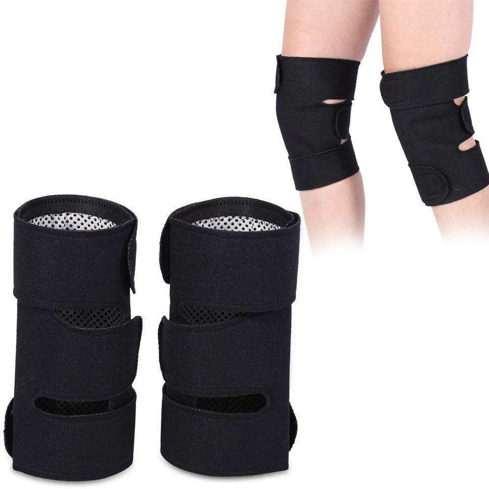 Filfeel Knee Braces,1 Pair Tourmaline Self-Heating Magnetic Therapy Protective Belt Arthritis
