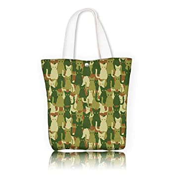 365346e49 Amazon.com: Stylish Canvas Zippered Tote Bag -W16.5 x H14 x D7 INCH ...