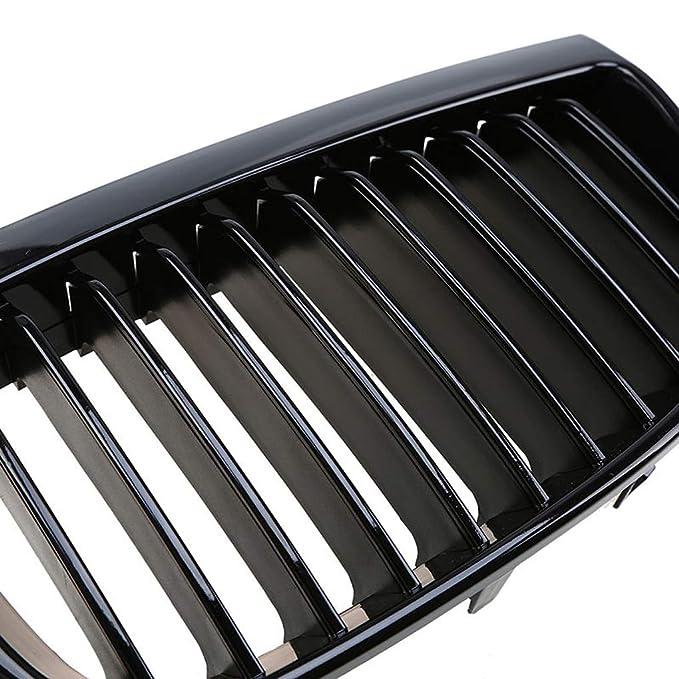 Ben-gi Anteriore Shiny Gloss Black Rene griglia Grill per BMW E87 E81 1-Series 2004-2007