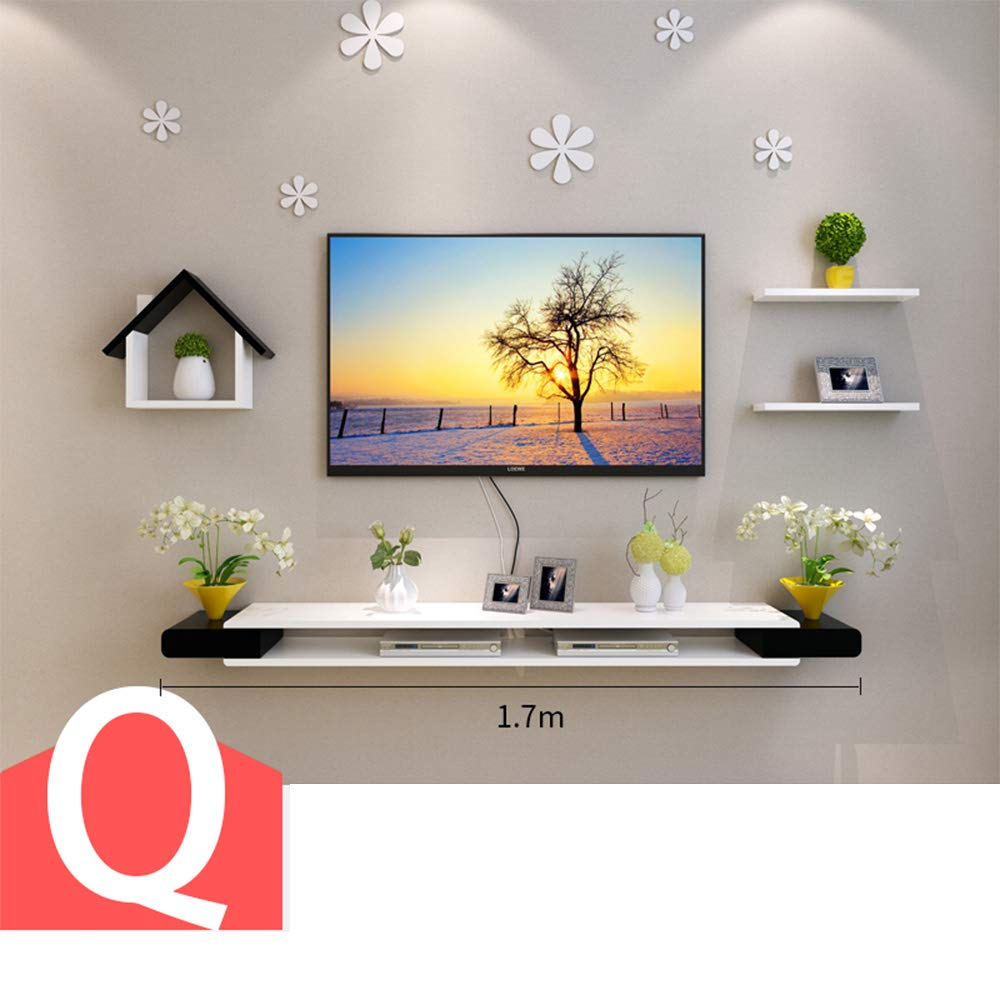 XIAOMEI テレビキャビネットセットトップボックスシェルフ居間テレビ壁の背景装飾フレーム クリエイティブウォールシェルフ (色 : Q) B07GTYF44W Q