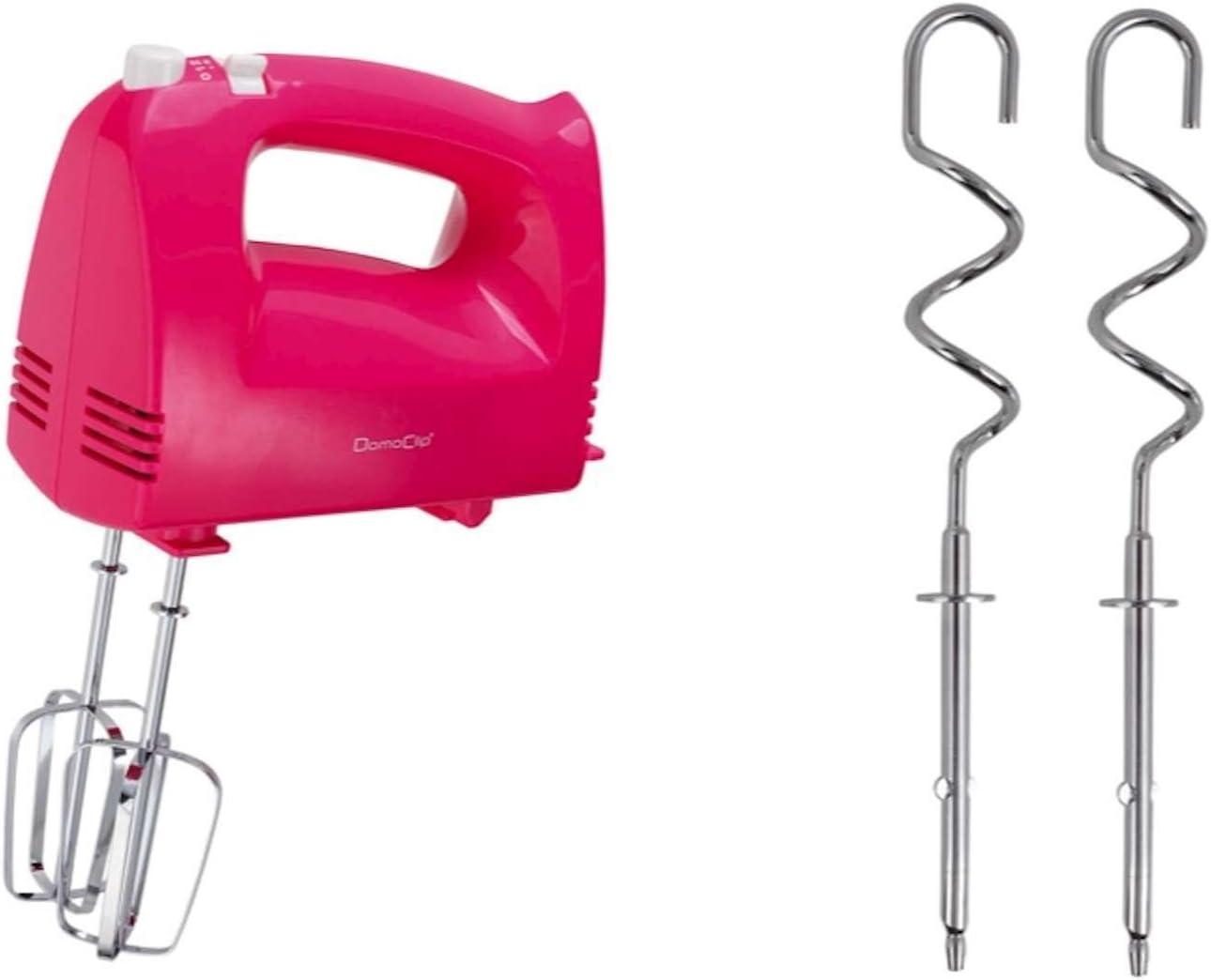 Batidora de mano para mezclar dispositivo 5 niveles – Batidora (Ganchos para amasar Varilla Batidora varillas (200 W, botón de expulsión del Motor, licuadora, agitador, Rosa): Amazon.es: Hogar