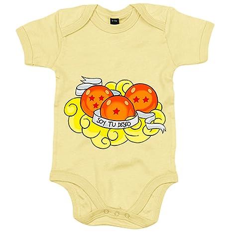 Body bebé Dragon Ball soy tu deseo cumplido bolas de dragón recién nacido - Amarillo,