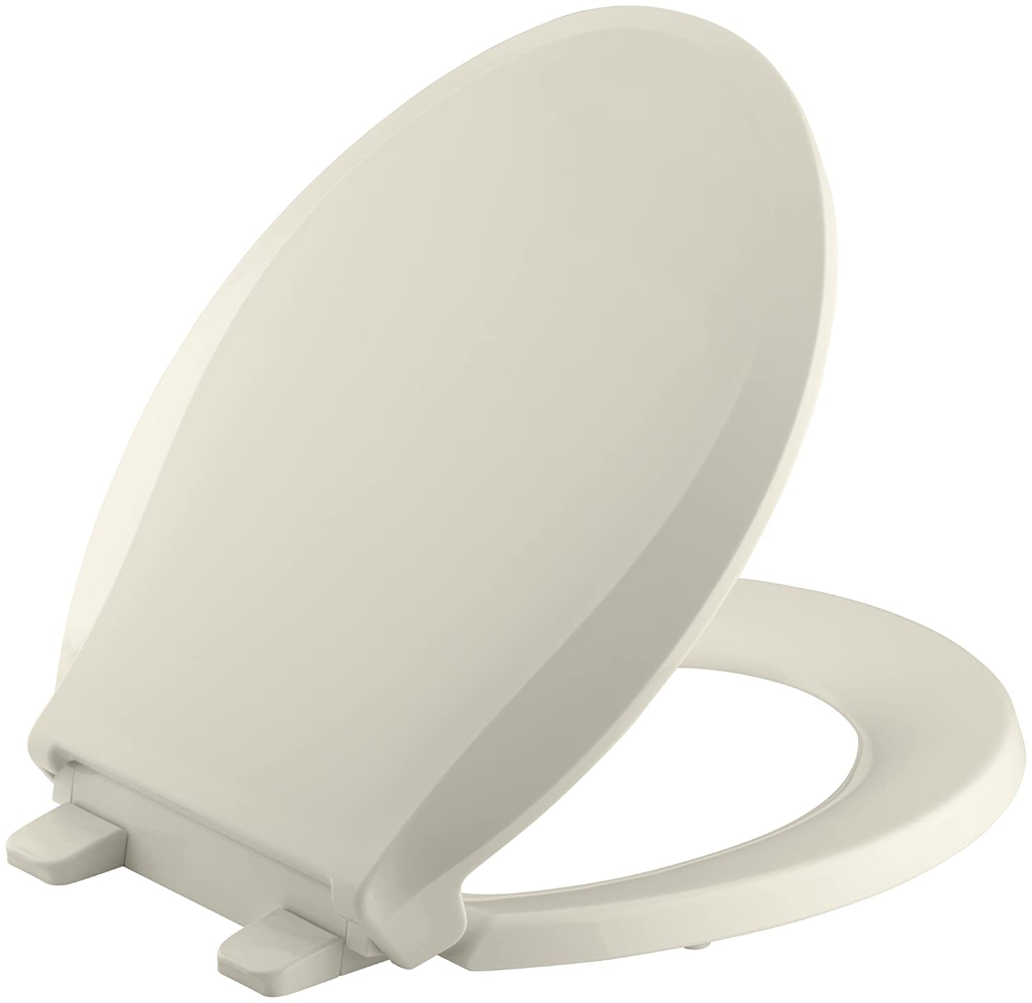 grey soft close toilet seat. KOHLER K 4639 47 Cachet Quiet Close with Grip Tight Bumpers Round front Toilet  Seat Almond Amazon com