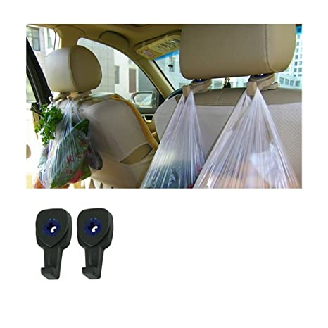 2Pcs Car Headrest Seat Hook Holder Hanger Bag Organizer Vehicle Coat Hanger