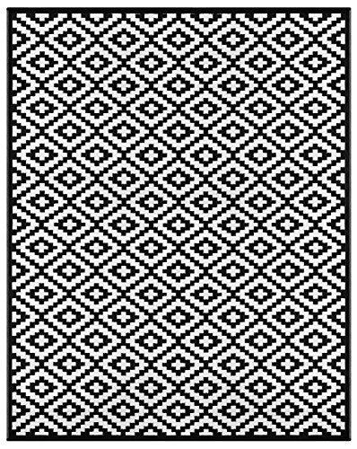 Green Decore Lightweight Outdoor Reversible Plastic Nirvana Rug (9 X 12, Black/White)