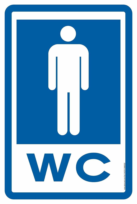 akrocard Cartel Resistente PVC - WC HOMBRES - Señaletica de ...