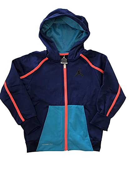 2cd5792da4d2 Buy Nike Youth Toddler Boys Air Jordan Therma Fit Full Zip Hoodie Hooded  Jacket (4T 96~104CM 3~4YRS